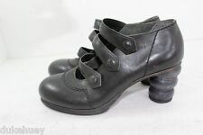 JUNYA WATANABE COMME DES GARCONS 3 STRAP MARY JANE CARVED WOOD HEEL SHOES S US 6