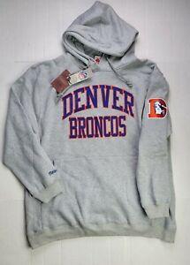 NWOT Men's Denver Broncos Mitchell and Ness Sz 2XLB NFL Premium Coach Hoodie