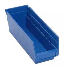 """shelf bins blue QuantumEconomy used plastic (Pack of Six)11 5/8""""Lx4""""Dx4.125""""W"""