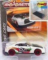 Majorette Nissan GTR MJT White Racing Diecast Car 1/61 214D Free Display Box