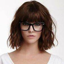 100% Real Hair! Sweet Fluffy Wavy Short Capless Dark Brown Women's Wig Hair