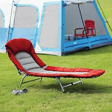 Cot Folding Camping Bed and Lounge Portable Outdoor  Sleeping Travel Hiking New