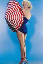 MARILYN MONROE SWIMSUIT BEAUTY WITH UMBRELLA  (1) RARE 5X7 GalleryQuality PHOTO