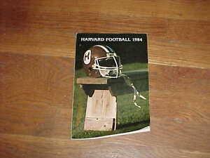 1984 Harvard Football Media Guide