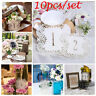 10pcs White Lace Cave Table Card Number On Table 1to10 Wedding Centerpiece Decor