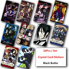 10Pcs Black Butler Crystal Card Stickers Japanese Anime Poster Photo For Gift