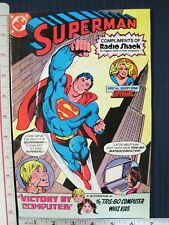 Superman Radio Shack Comic Book Victory By Computer DC 1981 with Supergirl
