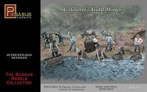 PEGASUS 1:48 Gold Rush Miners  PGS7007-NEW