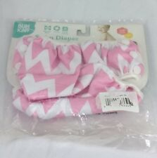 Bumkins Reusable Swim Diaper Chevron Pink Washable Baby Diaper Size L 20-50 lbs