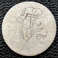 """Love Token on 1840 Seated Liberty Dime 10c """"J"""" #20315"""