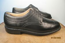 Arnold Palmer Black Leather Wingtips  Golf Shoes Size 8.5 D Medium