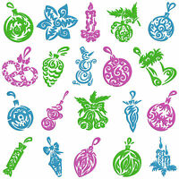 Christmas Decorations 1 * Machine Embroidery Patterns * 20 designs