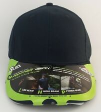 Pacific Headwear Panther Vision 3 LED Lights Blank/Navy Blue/Hat/Cap/NWT