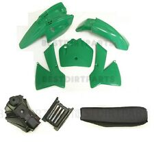PLASTIC SET TANK SEAT BODY SENIOR ADVENTURE JUNIOR KTM50 KTM50SX GREEN NEW