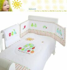 The Very Hungry Caterpillar 3pc Cot Bedding Set Soft Quality Bedding 100% Cotton