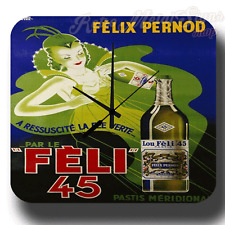 FELIX PERNOD RETRO AVDERTISEMENT METAL TIN SIGN WALL CLOCK