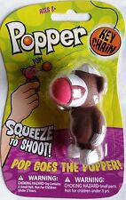 Hog Wild Sock Monkey Key Chain Popper Foam Ball Launcher Travel Toy