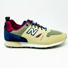 New Balance Trailbuster Tan Navy Burgundy Mens Hiking Outdoor Sneakers TBTFHTP