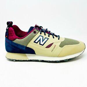 New Balance Trailbuster Tan Navy Burgundy Mens Hiking Outdoor Shoes TBTFHTP