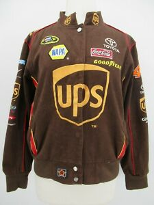 P5558 VTG JH Design Kid's Zip Front UPS NASCAR Racer Jacket Size 2XL