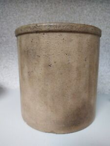 Antique Primitive Salt Glazed Stoneware Crock