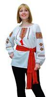 Ukrainian embroidered traditional shirt for ladies, blouse, sorochka, vyshyvanka