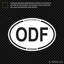 Operation Desert Fox Veteran ODF Oval Sticker army usmc navy usaf