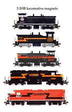 Indiana Harbor Belt Locomotives set of 5 magnets Andy Fletcher