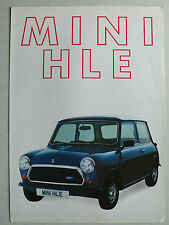 Prospekt Leyland Mini HLE, 8.1982, 4 Seiten