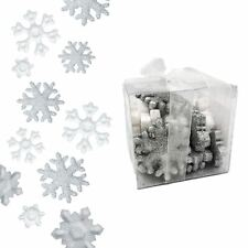 23 Silver White Christmas Glitter Snowflake Sprinkle Table Party Decoration