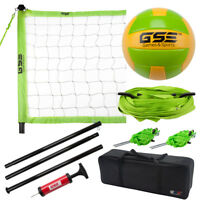Pro Indoor/Outdoor Complete Volleyball Set with Net, Volleyball, Pump & Needle