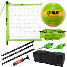 Pro Outdoor Portable Complete Volleyball Net Set with Volleyball, Pump & Needle