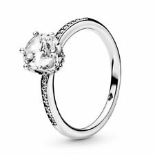Pandora Clear Sparkling Crown Ring 198289CZ pouch 52/6