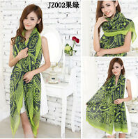 Women Fashion Long Scarves Soft Silk Cotton Wrap Shawl Cotton Scarf Neck Stole