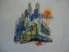 Vintage New York City Skyline Artwork Painting Little Branch White T Shirt S