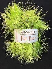 Moda Dea Fur Ever Yarn by Coats - LIMEADE - Fancy Eyelash 50g Skein Ball