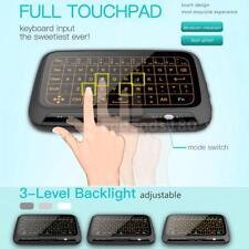 H18+ 2.4G Mini Wireless Tastiera Touchpad completo Telecomando Backlit per TV PC