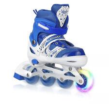 Kids Inline Skates For Girls And Boys Roller Blades Adjustable 4 Sizes Beginners