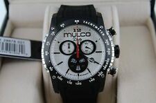Mulco Unisex MW1-29878-021 Deep Scale Black Rubber Strap White Dial Watch