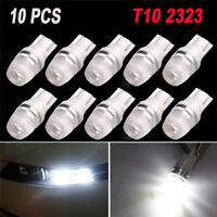 10X White High Power T10 Wedge 2323 2 LED Car Light Bulbs W5W 192 168 194 12V YA