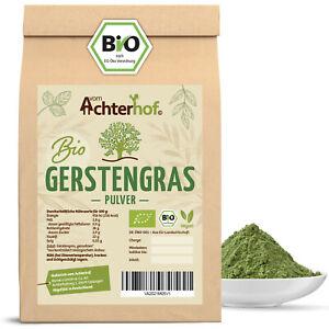 BIO Gerstengraspulver 1kg Gerstengras Pulver aus kontrolliert biologischem Anbau