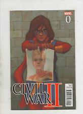 Civil War II #0 - 1:10 Ms Marvel Variant Cover - (Grade 9.2) 2016