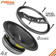 "4x PRV Audio 6MB200 v2 Mid Bass Car Stereo 6.5"" Speaker 8 Ohm 800W + 6GRILL-POLY"