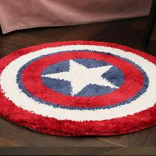 21x21 Round Floor Mats Rug Door Carpets Bath Mat Bathroom Rug Captain America