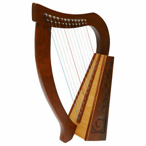 Muzikkkon 12 string O'Carolan harp, Celtic Irish harp