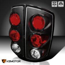 2002-2006 Dodge Ram 1500 2500 Pickup Black Tail Lights Brake Lamps Left+Right