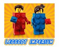 LEGO Minifigure S18 Brick Suit red & blue combo deal! minifig col313/4 FREE POST