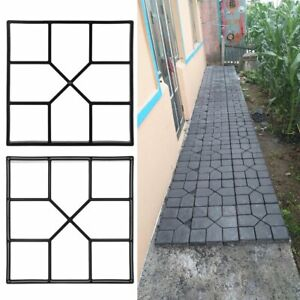 Garden Paving Pavement Mold Patio Concrete Stone Path Walk Maker Mould Reusable