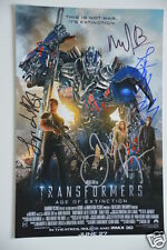 Transformers 4 20x30cm Picture Poster 6 Autogramme / Autograph Signed in Person