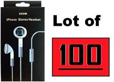 Wholesale 100Pcs Stereo Earphone Headphone Headset for iPhone, Samsung, HTC,..